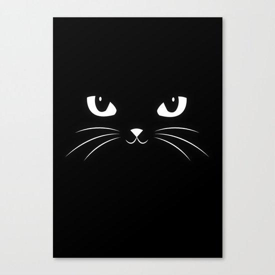 Cute Black Cat Canvas Print