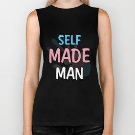 Self Made Man Transman LGBT Trans Pride Flag Gift T Shirt Biker Tank