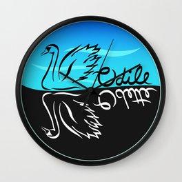 Black Swan White Swan Wall Clock