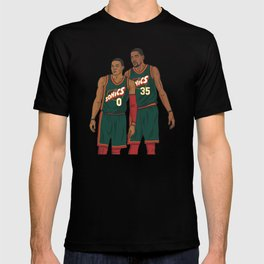 Westbrook and Durant - Retro Jersey T-shirt