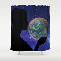 bubble Shower Curtains featuring Bubble by Cs025