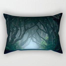 Cold foggy morning in Dark Hedges Rectangular Pillow