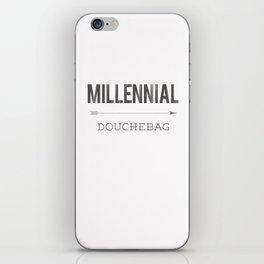 Millennial Douchebag Hipster Typography Vintage Artisan Design iPhone Skin