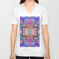 trippy V-neck T-shirts featuring TRIPPY by IZZA