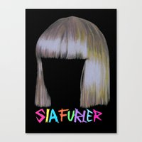 sia Canvas Prints featuring Sia head by Melina Espinoza