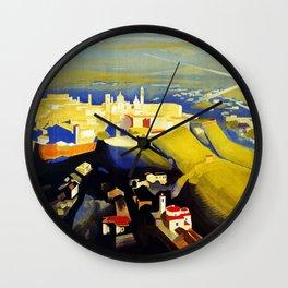 1920s Bergamo Italy travel Wall Clock