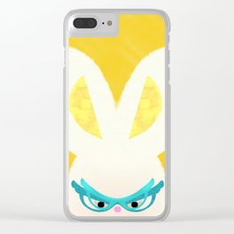 Retro Bunny Clear iPhone Case