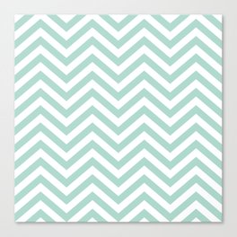 Chevron Turquoise  -   01 Mix & Match Canvas Print