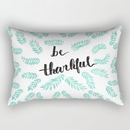 be thankful blue leaves Rectangular Pillow