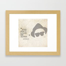Famous Last words: John Belushi Framed Art Print