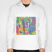 cityscape Hoodies featuring Cityscape windows by Glen Gould