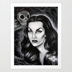 Vampira : The Original Glamour Ghoul Art Print