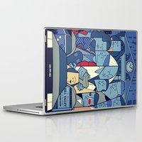 ale giorgini Laptop & iPad Skins featuring Back to the Future by Ale Giorgini