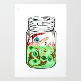 Pickled Enemies Art Print