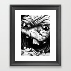 Rogues Gallery - Clayface Framed Art Print