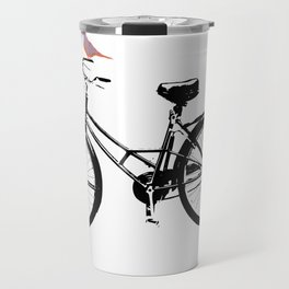 Baker's bicycle with bird Travel Mug
