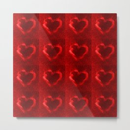 red flame hearts Metal Print