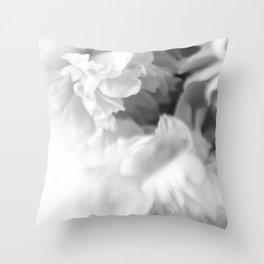 Blured white peonies Throw Pillow