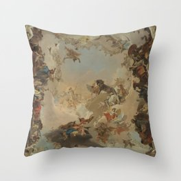 Allegory of the Planets and the Continents by Giovanni Battista Tiepolo Throw Pillow
