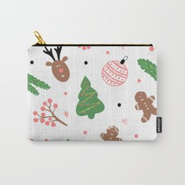 Christmas pattern in pink Carry-All Pouch