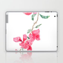 red  pink  bougainvillea watercolor Laptop & iPad Skin