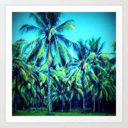 Palm Away With Me Art Print