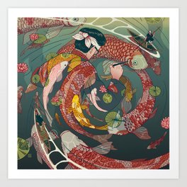 Ukiyo-e tale: The creative circle Art Print