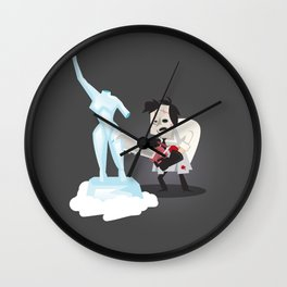 Texas Chainsaw Ice Sculpting Wall Clock
