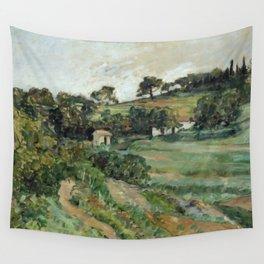 """Paul Cezanne """"Landscape"""", c.1879 Wall Tapestry"""