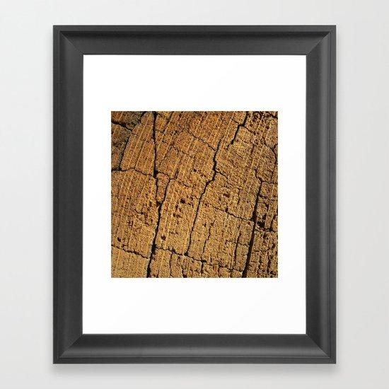 old oak wood I Framed Art Print