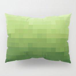Gradient Pixel Green Pillow Sham
