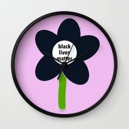 Black Lives Matter - BLM Flower img2 Wall Clock