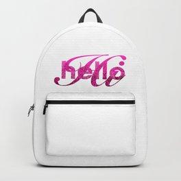 Hello Hi Pink Shimmer Greeting Backpack