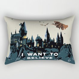 I Want To Believe - Hogwarts Rectangular Pillow