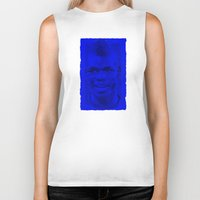 juventus Biker Tanks featuring World Cup Edition - Paul Pogba / France by Milan Vuckovic