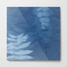 Cyanotype 2 Metal Print