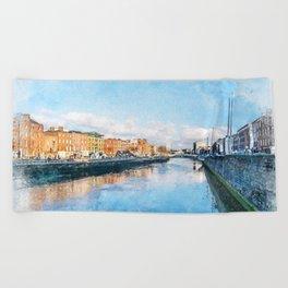 Dublin art #dublin Beach Towel