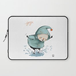 Goji welcomes the rain! Laptop Sleeve