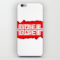 swag iPhone & iPod Skins featuring Red Swag by Azeez Olayinka Gloriousclick