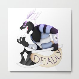 Deadly Metal Print