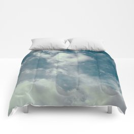 Soft Dreamy Cloudy Sky Comforters
