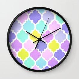 Morrocan Pastel Wall Clock