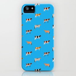 Dairy Breeds // Sky Blue iPhone Case