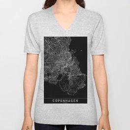 Copenhagen Black Map Unisex V-Neck