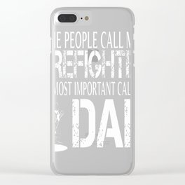 Firefighter Dad Tshirt Clear iPhone Case