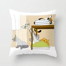 You can't see us... color version Throw Pillow