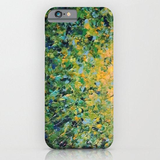 IRISH SUNRISE - Beautiful BOLD Lime Kelly Forest Green Sunrise Sunset Abstract Nature Painting iPhone & iPod Case