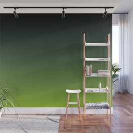 Ombre | Color Gradients | Gradient | Two Tone | Charcoal Grey | Lime Green | Wall Mural