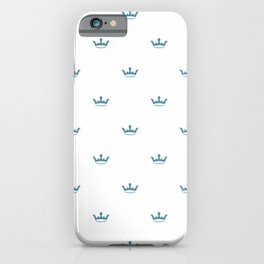 Blue Crown pattern iPhone Case