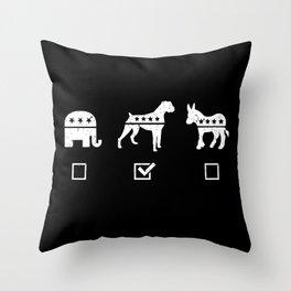 VOTE BOXER Throw Pillow